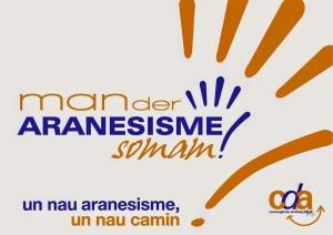 logo man der araneisme A4+slogan